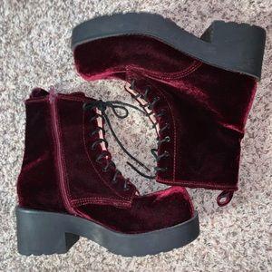 Jeffrey Campbell velvet boots size 11